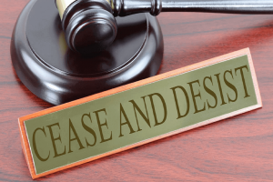 How to get a cease and desist letter