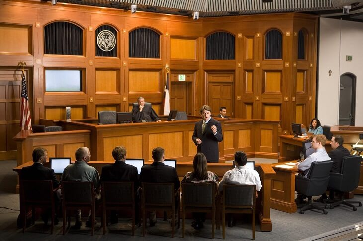 question answer session in usa court