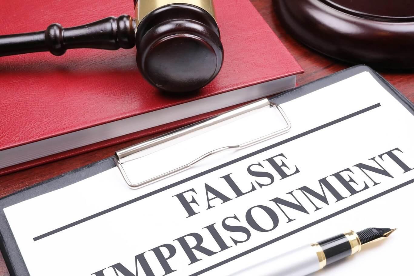 False imprisonment lawsuit cases