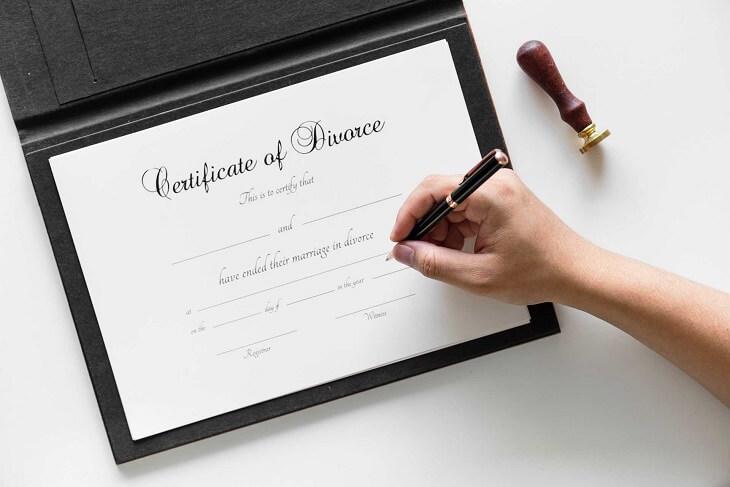 divorce certification