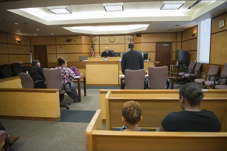 An eviction process of the court system