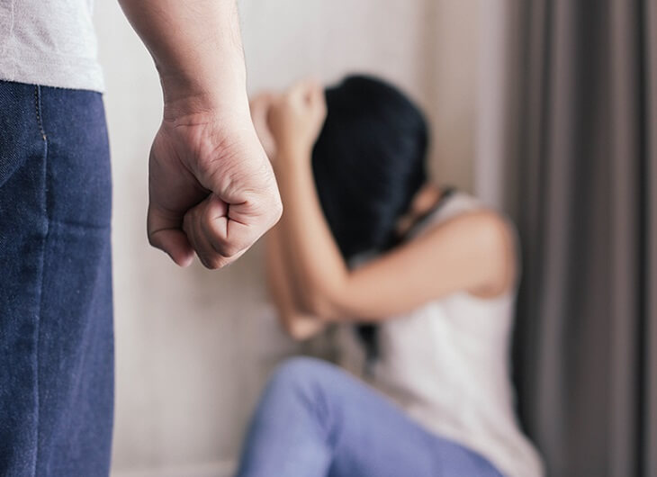 Who files the charges against domestic violence