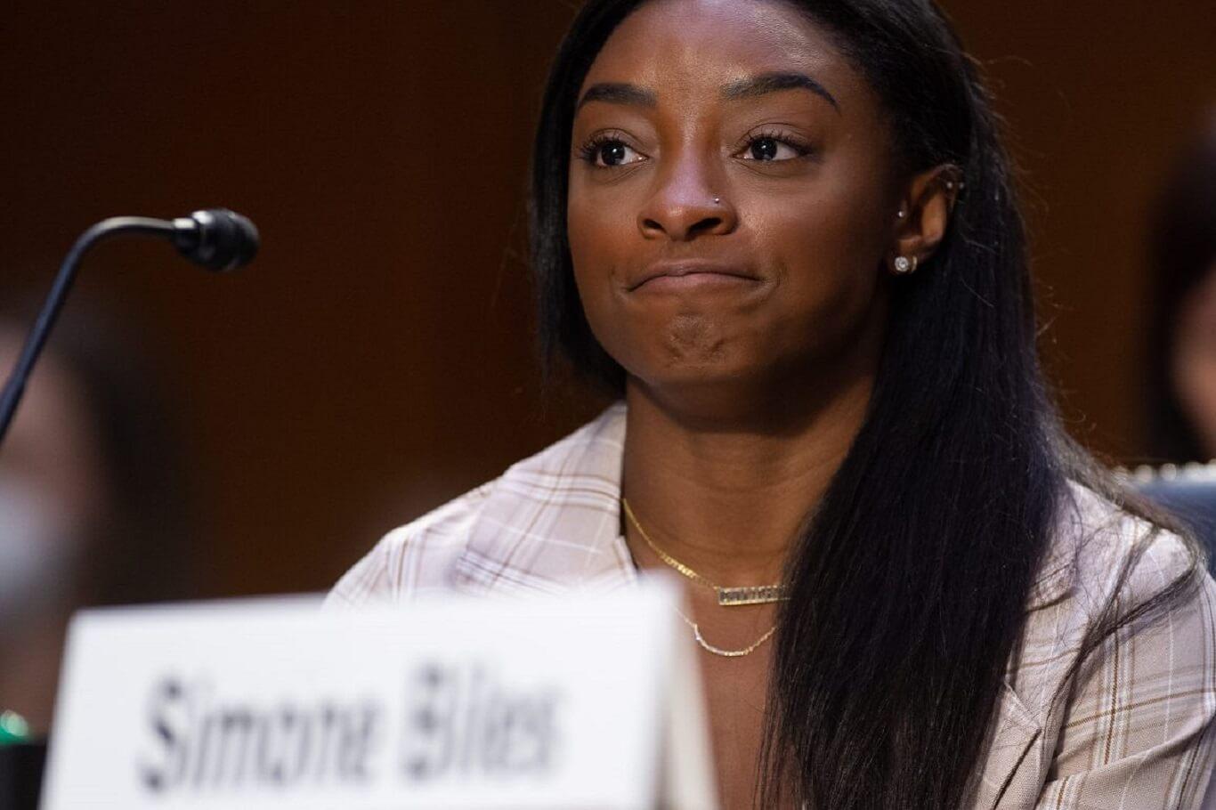 Simone Biles takes on disgraced Larry Nassar conviction