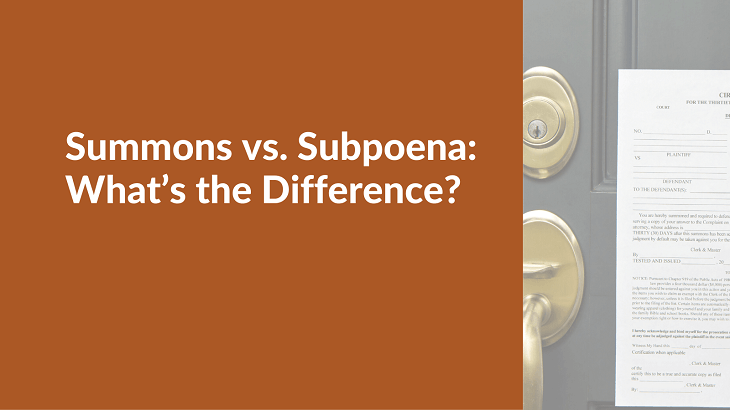 What is the difference between a summon and a subpoena