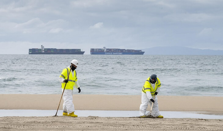 California oil spill investigation