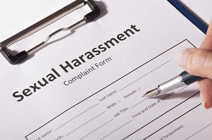 File a sexual harassment claim against the harasser