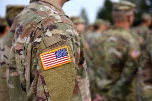 can civilians wear american flag patches