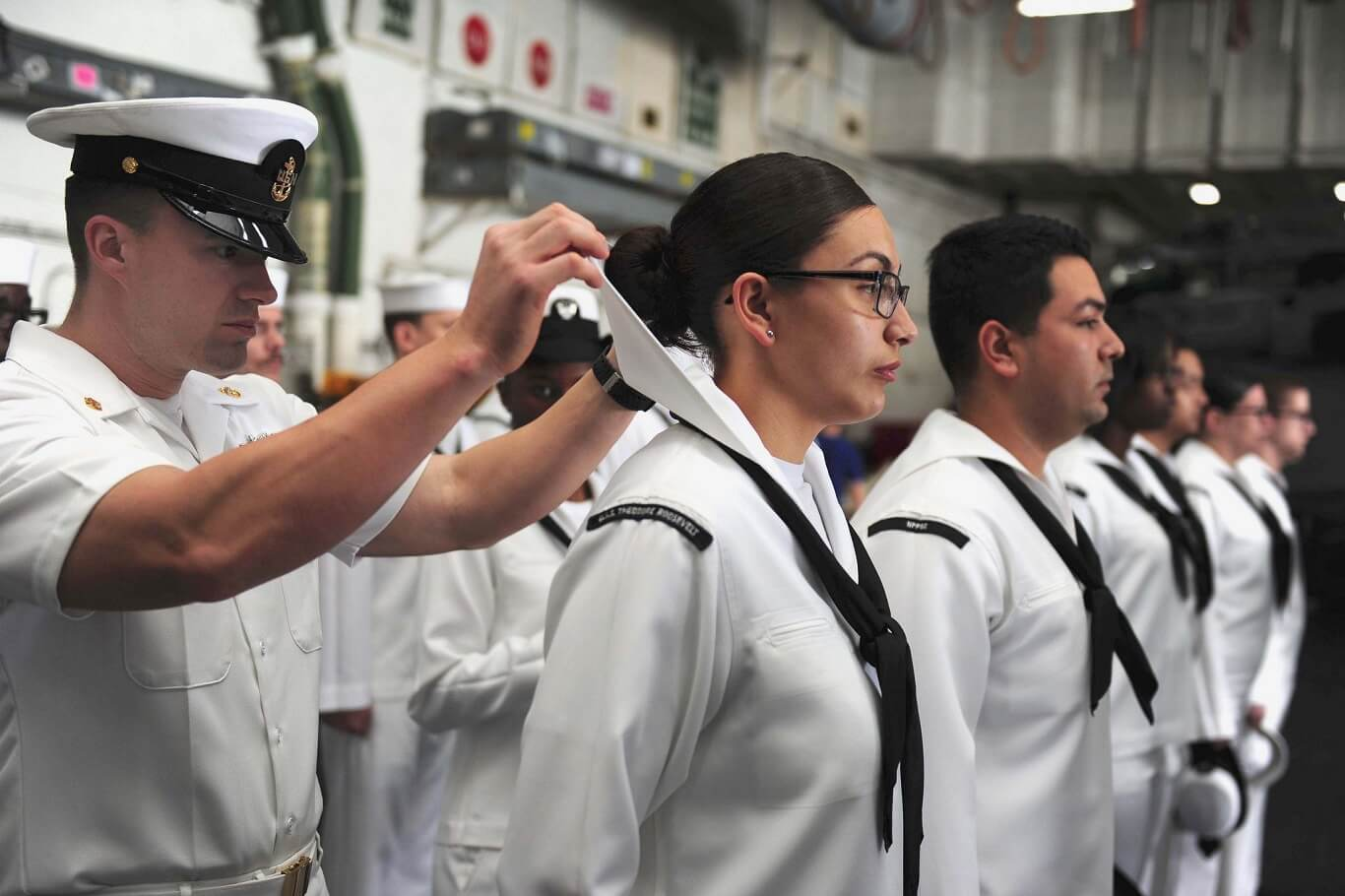 woman from the US Merchant Marine Academy claimed sexual assault